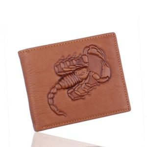 Other - Scorpion Engraved Leather Bifold Men Wallet